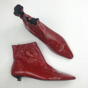 7065183cbfe Women s Zara Patent Leather Boots on Poshmark